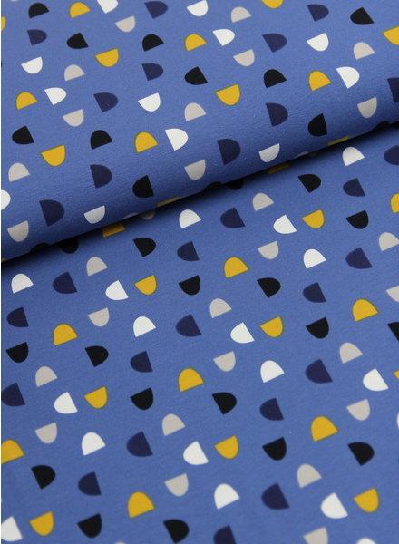 half moon blauw - tricot