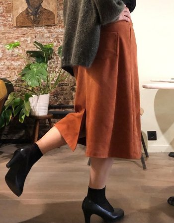 Een Anna rok in Suede