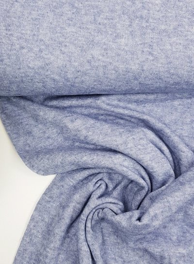 blue knitted fabric  - super soft