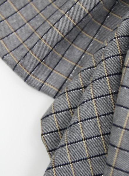 checks and lurex - supple fabric