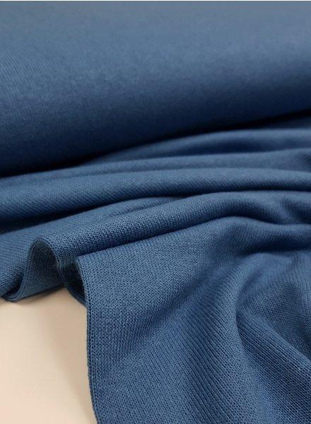 jeansblauw - fijngebreide viscose jersey