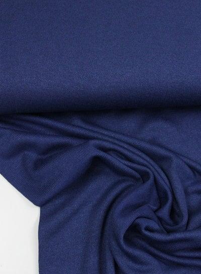 donkerblauw - fijngebreide viscose jersey