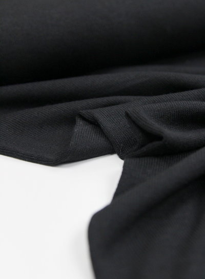 black - finely knitted viscose jersey