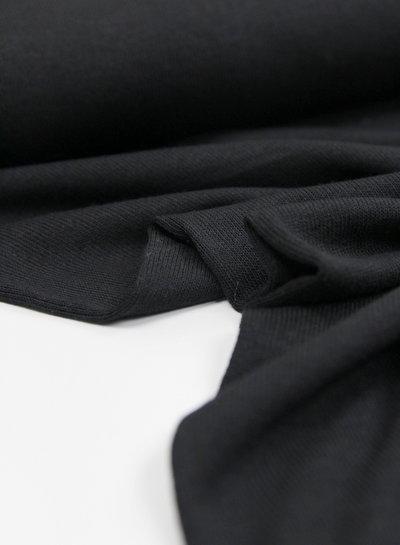 zwart - fijngebreide viscose jersey