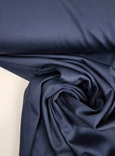 navy - stretch suede fabric