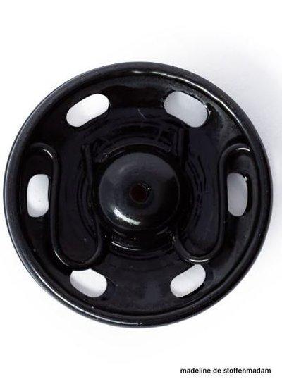 drukknopen 15mm zwart