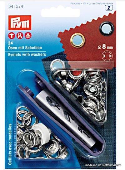 Prym zilveren zeilringen 8mm