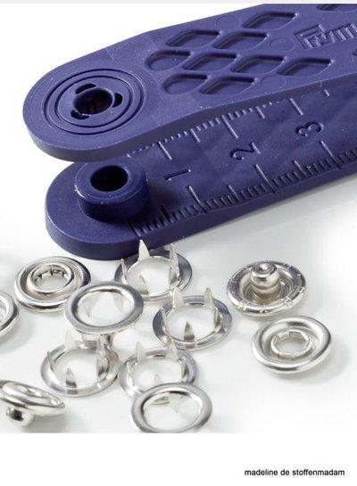 Prym jersey drukknopen, open ring, 10mm, zilverkleurig