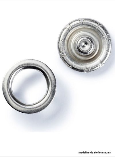 Prym press fastener jersey, retaining ring, 10mm, silver-coloured