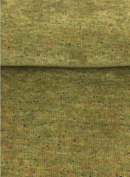 groen gespikkeld  - chenille