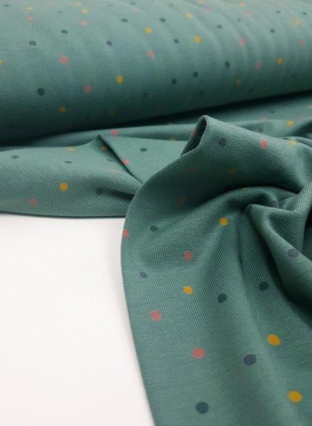 moss green dots - jersey