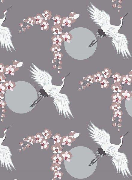 grey cranes - modal OEKO TEX