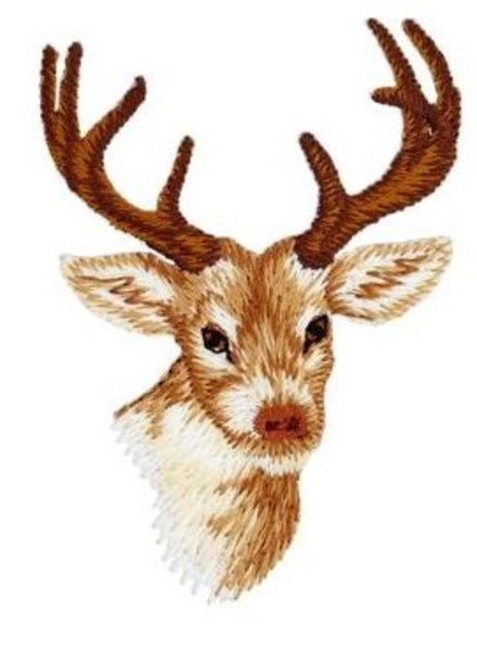 deer - iron on application