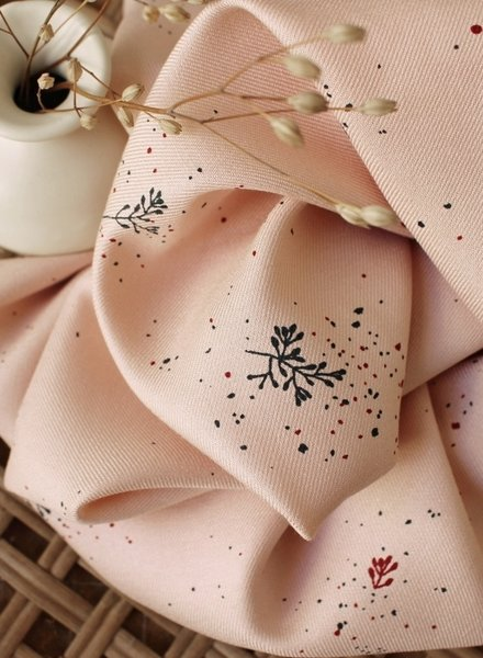 Atelier Brunette twig blush - viscose twill