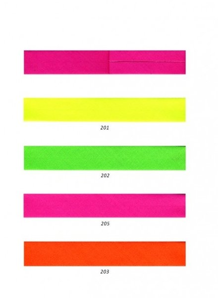 fluo oranje - biais 20 mm