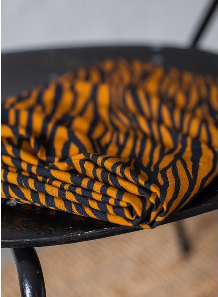 Mind The Maker zebra ochre / dark navy - viscose twill