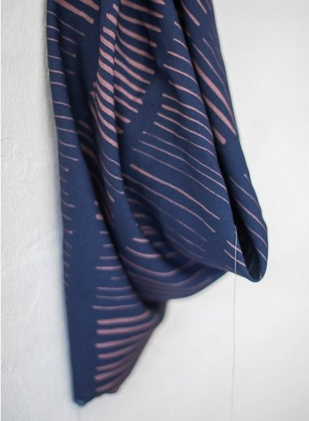 Mind The Maker sticks blue / pale rose - viscose twill