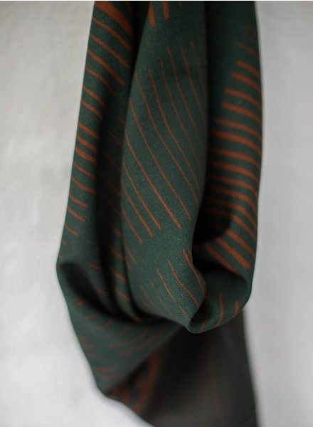Mind The Maker sticks green / rusty - viscose twill