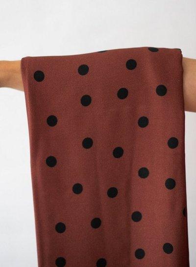 Mind The Maker dots rust - viscose stretch
