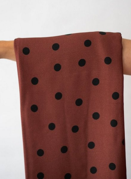 Mind The Maker dots rust - viscose stretch
