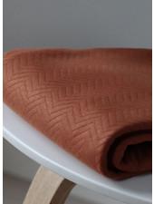 Mind The Maker organic chevron quilt rust  - doorstikte stof