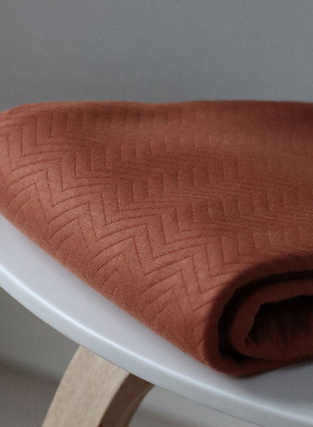 Mind The Maker organic chevron quilt rust  - doorstikte stof