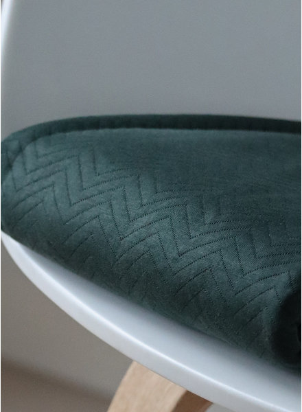 Mind The Maker organic chevron quilt deep green  - doorstikte stof