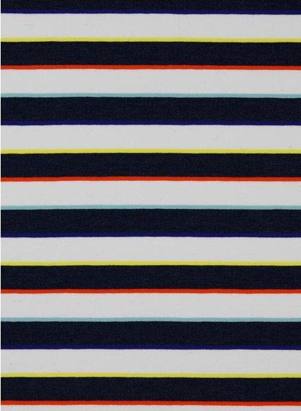 blauw multistripe - tricot