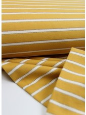 ochre lurex stripes - french terry