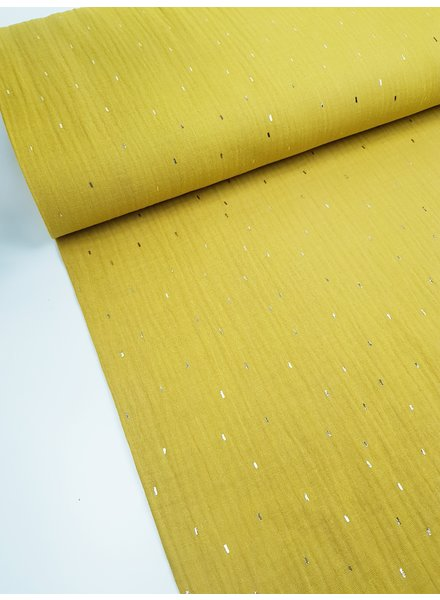 oker foil stripes - tetra double gauze