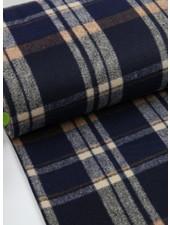 La Maison Victor Alaska checks - coat fabric