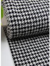 woven pied de poule  - coat fabric