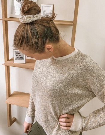 a sparkling All Weather Sweater - french terry
