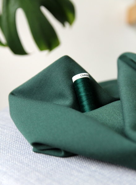 groen - soepelvallende gabardine - wool touch