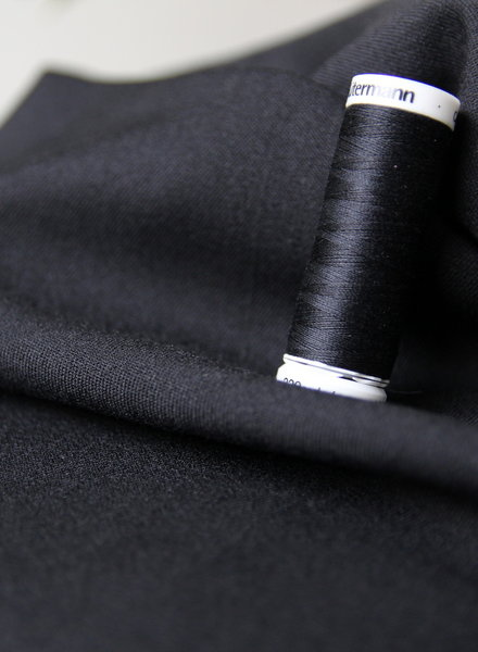 black - supple fabric - wool touch