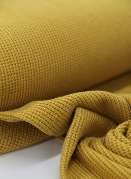 ocre - knitted viscose fabric
