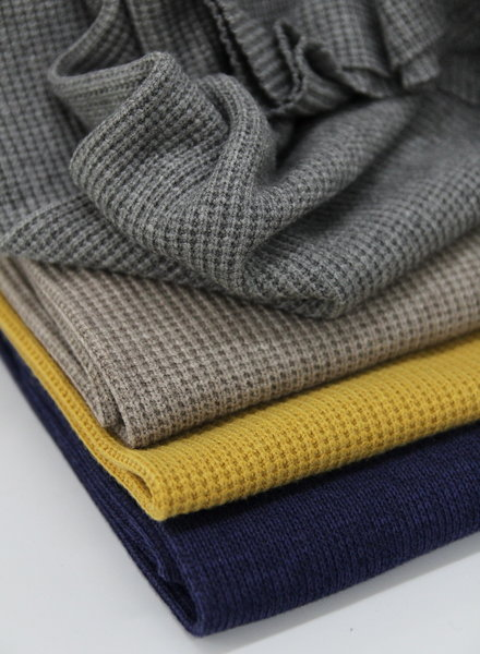 navy - knitted thick fabric