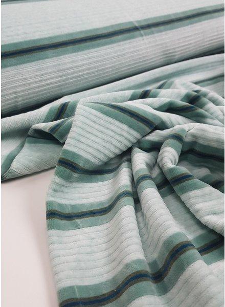 Elian mint - textured nicky velours