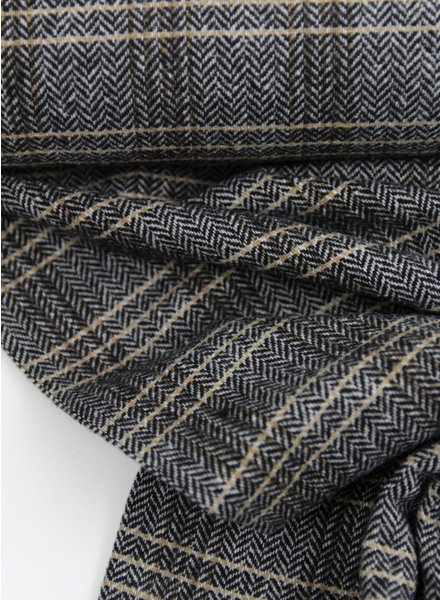 brown chevron - woolen fabric