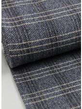 blue chevron - woolen fabric