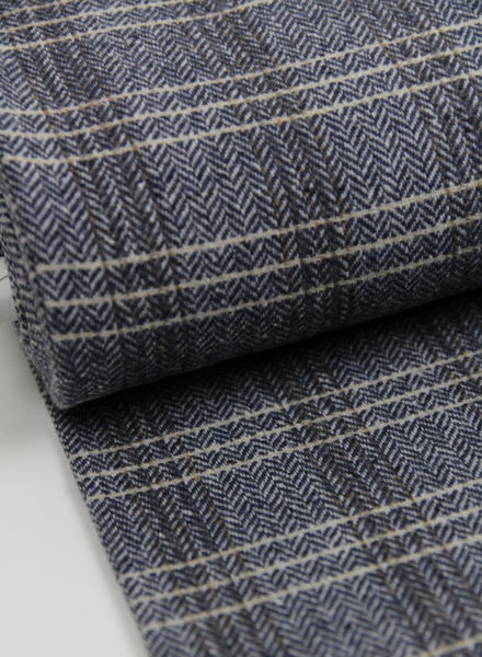 blue chevron - woolen fabric