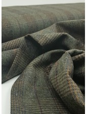 green prince de galles - woolen fabric