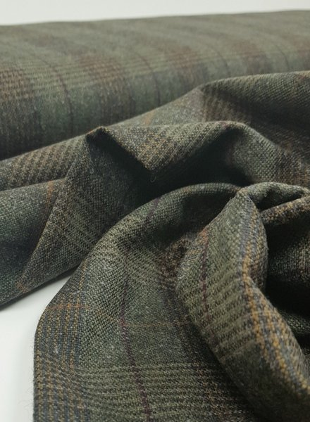 green prince de galles - woolen fabric