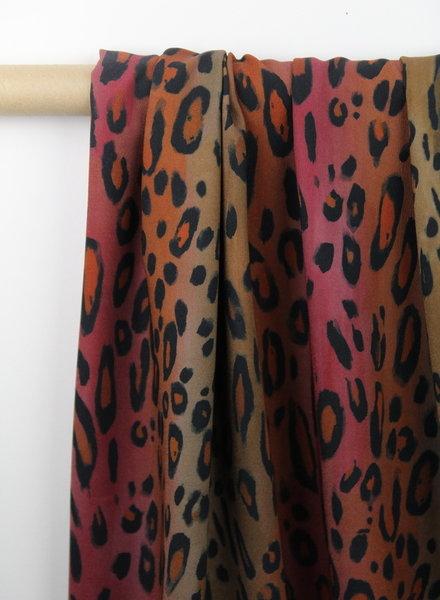 aquarel leopard - crepe