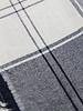 blue squares / lurex -  crêpe