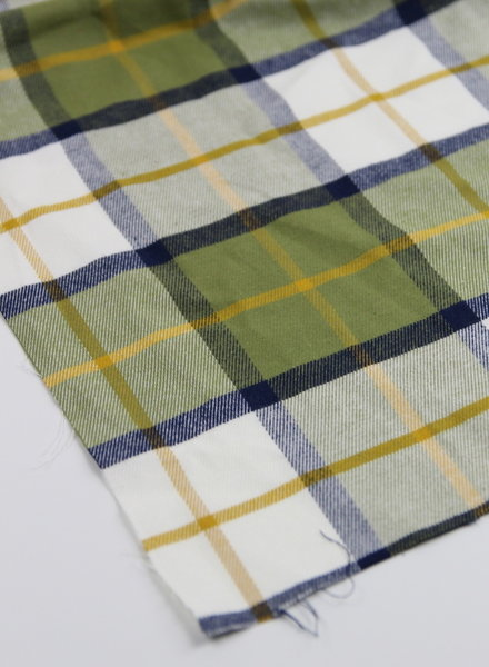 checks moss green - flanel