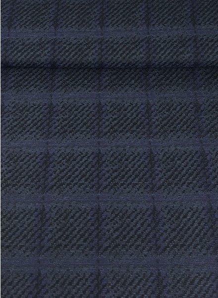 checks blue -  woven jacquard