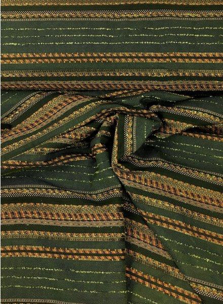 groen en lurex  - geweven jacquard