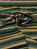 subtile lurex petrol ochre green - woven jacquard