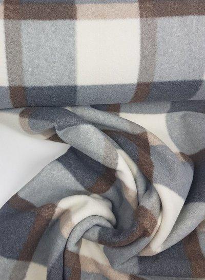 ecru bristol checks - coat fabric